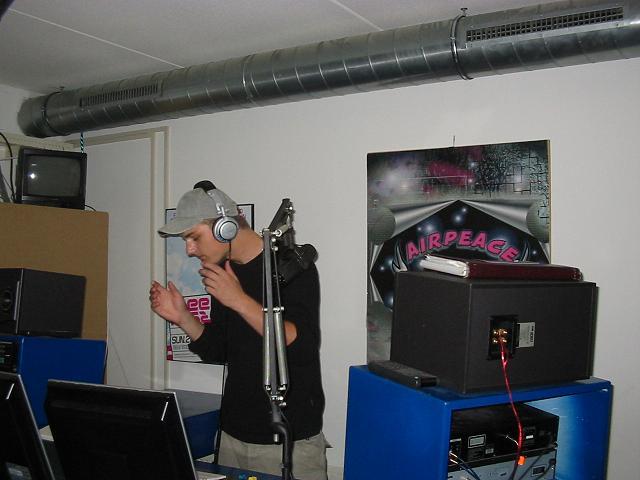 Actie foto in de studio