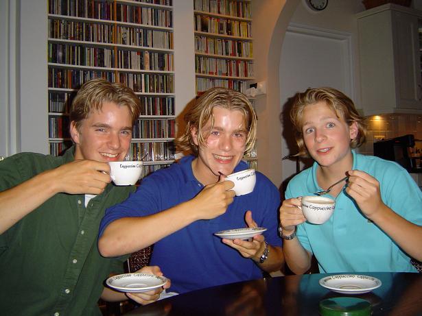 ik met Mark en Thomas