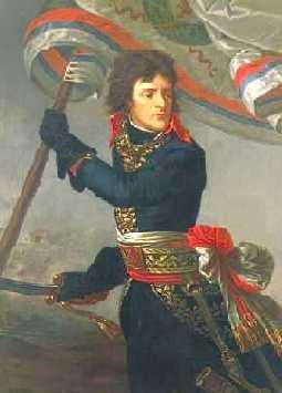 Dit ben ik in 1796 bij de brug van Arcole