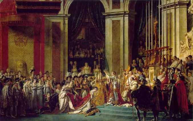 De kroningsceremonie in de Notre Dame
