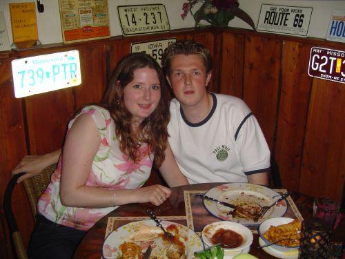 Samen uit eten op 21-7, een jaar samen :)