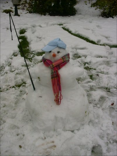 Sneeuwpop! Met een zweep =P
